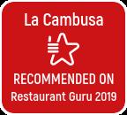 Recommended on Restaurant Guru 2019
